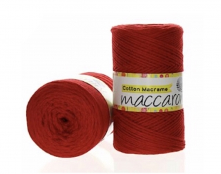 Cotton Macrame 2mm červená 16