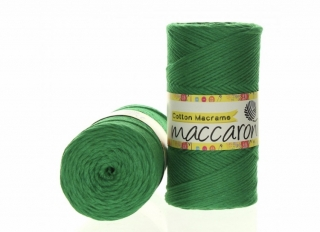 Cotton Macrame 2mm zelená 22-601
