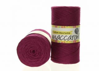 Cotton Macrame 2mm fuchsiová 27-506