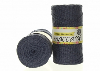 Cotton Macrame 2mm modrošedá 34-204