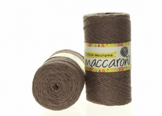 Cotton Macrame 2mm hnědošedá 35-303