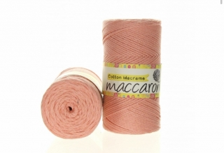 Cotton Macrame 2mm lososová 44