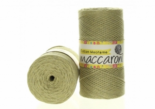Cotton Macrame 2mm zelenobéžová 56-804